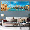 Triple Painting Core Beautiful Water City Oil Painting - MULTI