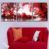 Triptych Core Red Leaf Tree Oil Painting 3pcs - WIELO