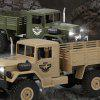 Military Vehicle Six-wheel Drive Climbing Off-road Outdoor Simulation Remote Control Car for Children - ZIELEń WOJSKOWA