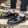 Men Fashion Comfortable Flat Shoes Casual Lace-up - BLACK