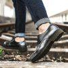 Men Fashion Comfortable Flat Shoes Casual Lace-up - GRAY