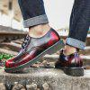 Men Fashion Comfortable Flat Shoes Casual Lace-up - VINO TINTO