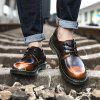 Men Fashion Comfortable Flat Shoes Casual Lace-up - BRąZOWY