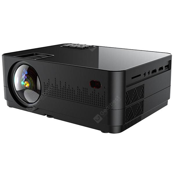LUXNPRO Q2 LED Smart Home Projector - Black AU Plug