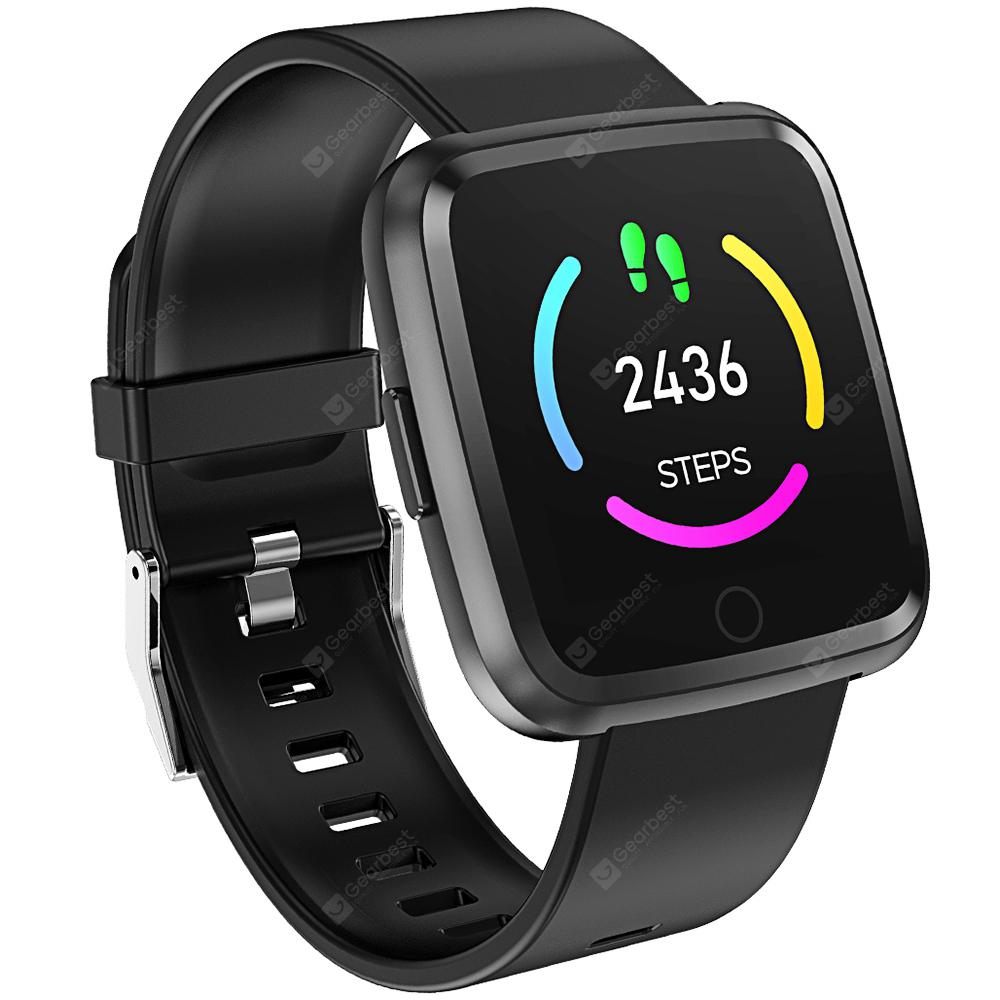 Alfawise Y7 Smart Watch with Heart Rate Monitor - BLACK