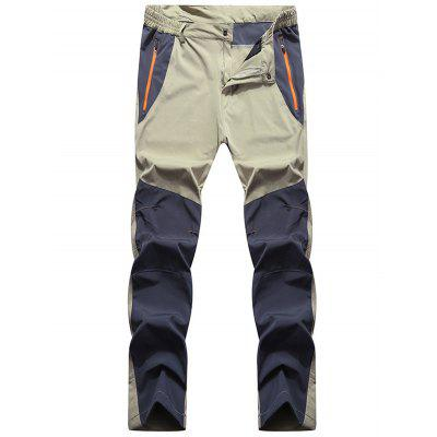 Outdoor Color Matching Quick-drying Breathable Waterproof Elastic Trousers