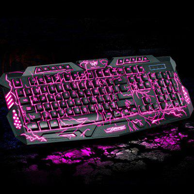 M200 USB podświetlona gra Gaming Burst Mechanical Feel Keyboard