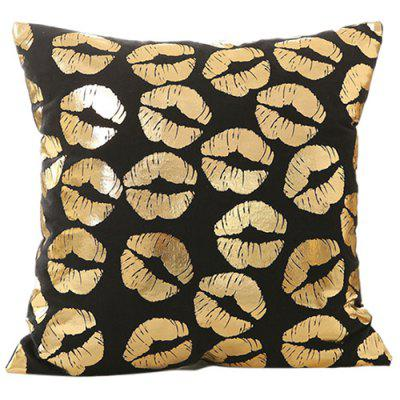 Christmas Decorations Gilded Black Christmas Series Pillowcase Kussenhoes (zonder kussen)