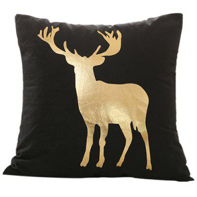 Christmas Decorations Gilded Black Christmas Series Pillowcase Cushion Cover ( without Pillow )
