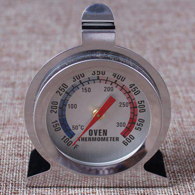 Baking High Temperature Resistant Stainless Steel Oven Thermometer Home Barbecue Seat Type Pointer Meter