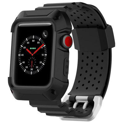 Correa de deporte de dos colores, transpirable, caucho neutro, 42 mm, universal para Apple Watch 1/2/3 Generation