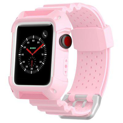 42mm Universal Two-color Frame Breathable Rubber Neutral Sports Strap for Apple Watch 1/2/3