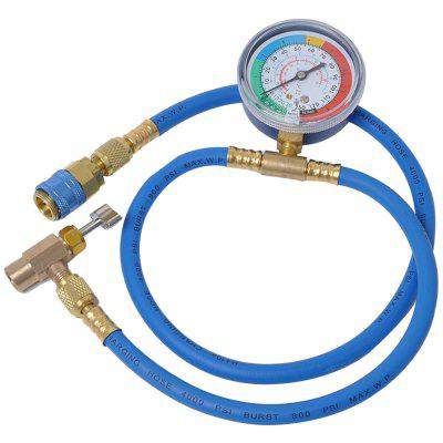 134A Fluoride Table Refrigerant Pressure Gauge Car Air Conditioning / Fluoride Pipe Refrigerant Filling Pipe