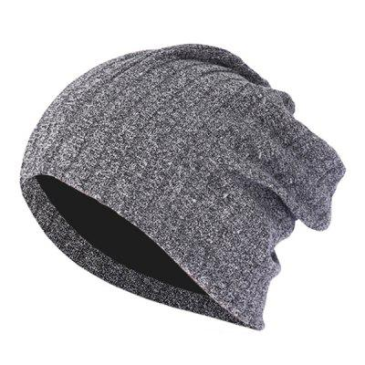 Men's Pullover Cap Personality Shiny Silver Line Windproof Warm