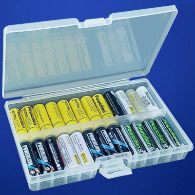 Large Capacity Protection Box Transparent Environmental Plastic Battery Storage Case for 48pcs AA Battery