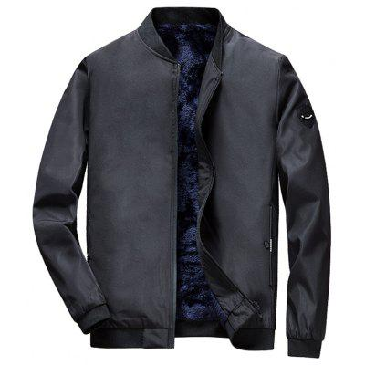 Herren Winter Slim Velvet Padded Jacket