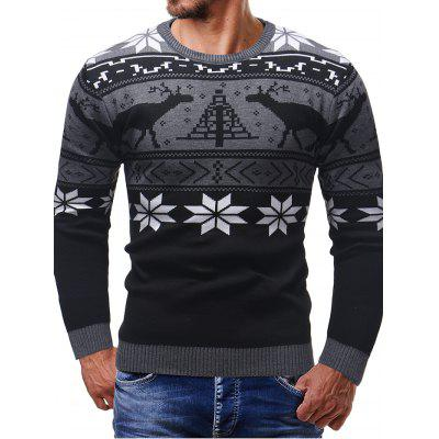 Thicken Christmas Sweater Men Long Sleeve Cardigan