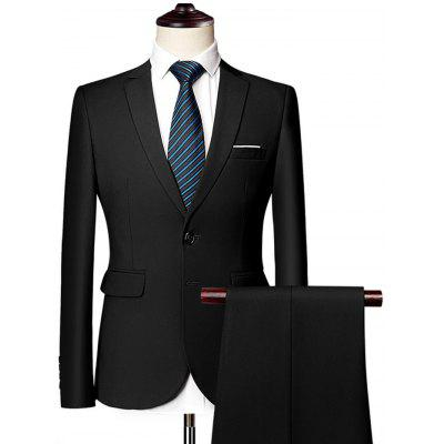 Men's Business Professional Suits Two-Piece Customized  Dresses Solid Color Two Buttons