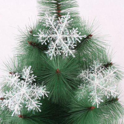 plastic brushed snowflake christmas tree decoration christmas tree pendant snowflake 3pcs