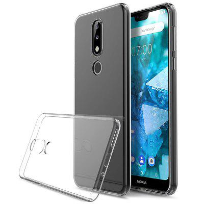 Naxtop TPU Non-slip Soft Protection Back Cover for Nokia 7.1