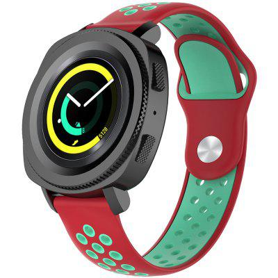 A1608 20MM Width Two-color Strap for Huami AMAZFIT Youth Version BIP Red Water Duck