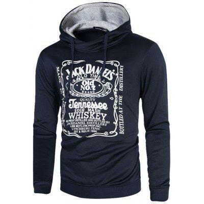Novel Printed Men Hoodie