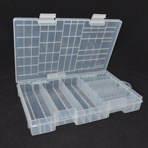 big sale 99baf f2266 Transparent PP Multi-section AA / AAA Battery Storage Box