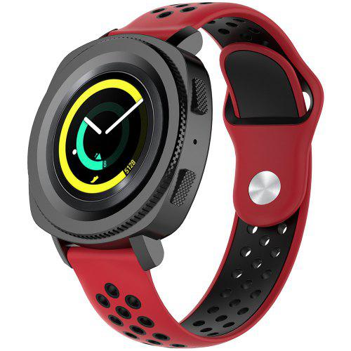 A1608 20MM Width Two-color Strap for AMAZFIT Youth Version BIP Red Black