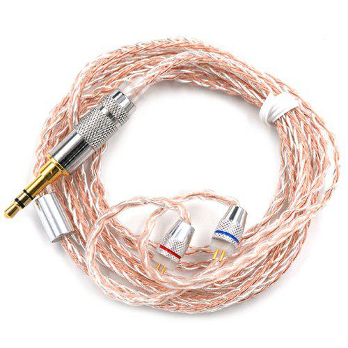 Hot KZ Copper Silver Hybrid Plating Upgrade Line Earphone Cable For HiFi Sound
