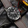 Belt Calendar Waterproof Quartz Watch - NOIR