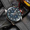 Belt Calendar Waterproof Quartz Watch - Платиновый