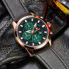 Belt Calendar Waterproof Quartz Watch - VERT ALGUE