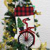 S1003 Hanging Christmas Stocking Holiday Candy Sock Gift Bag Fireplace Home Decoration - BRANCO