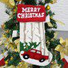 S1004 Hanging Christmas Stocking Holiday Candy Sock Gift Bag Fireplace Home Decoration - BLANC
