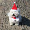 Christmas Decoration Double-layered Pet Christmas Hat Scarf  2pcs - RED