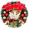 Christmas Decoration Wreath Red Deer - MULTI-A