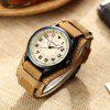 CURREN 8279 Men Waterproof Digital Belt Quartz Watch - CORN YELLOW