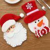Christmas Hotel Restaurant Cutlery Decoration 3pcs - MULTI-A