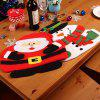 Christmas Table Decoration Mats Knife Napkin Cushions - MULTI-B