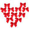 12PCS Pretty Bow Ornament Christmas Tree New Year Decoration Festival Party Home Bowknots Baubles - RED