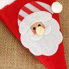 Christmas Decoration Table Christmas Hat Sticker Cutlery With Decoration 2pcs - MULTI-A