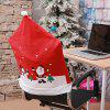 Christmas Decoration Old Man Snowman Ski Print Chair Cover 2pcs - MULTI-A