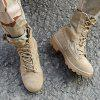 Running Military Men Boots - CAMEL BROWN