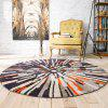 Nordic Fashion Trend Retro Abstract Round Carpet Living Room Bedroom Desk Computer Chair Cushion Carpet 120cm - MULTI-A