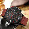 8278 Men's Watch Multi-function Fashion Casual Large Dial Quartz - ROJO