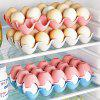 Thick Plastic Stackable 15 Egg Storage Box Refrigerator Shatterproof Egg Tray - BEIGE