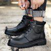Velvet Warm Men Military Boots - BLACK