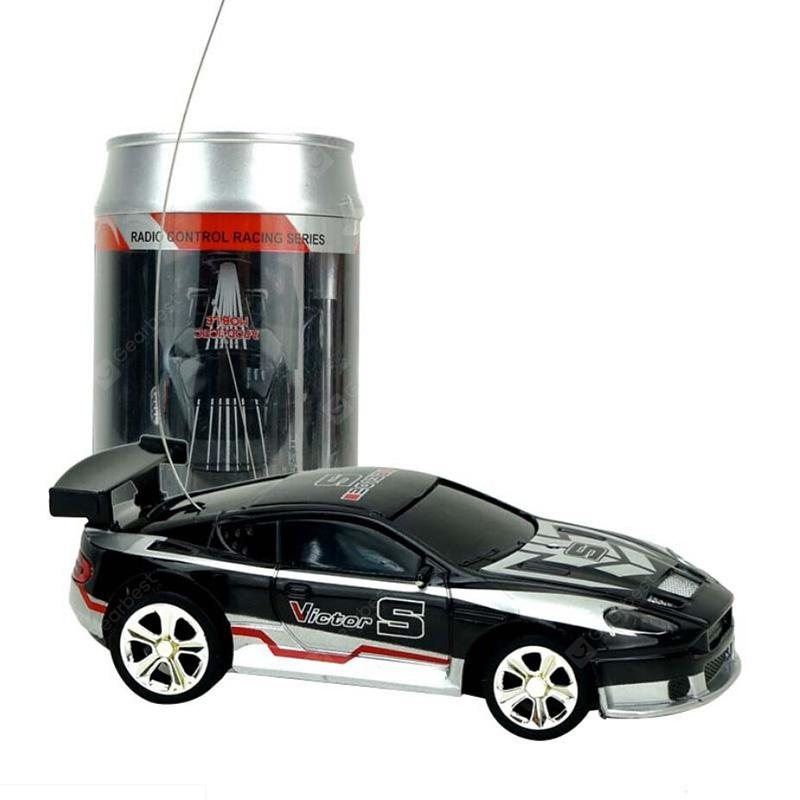 2010b 1/58 Mini Ring-pull Can RC Car Toy Gift for Children - Platinum