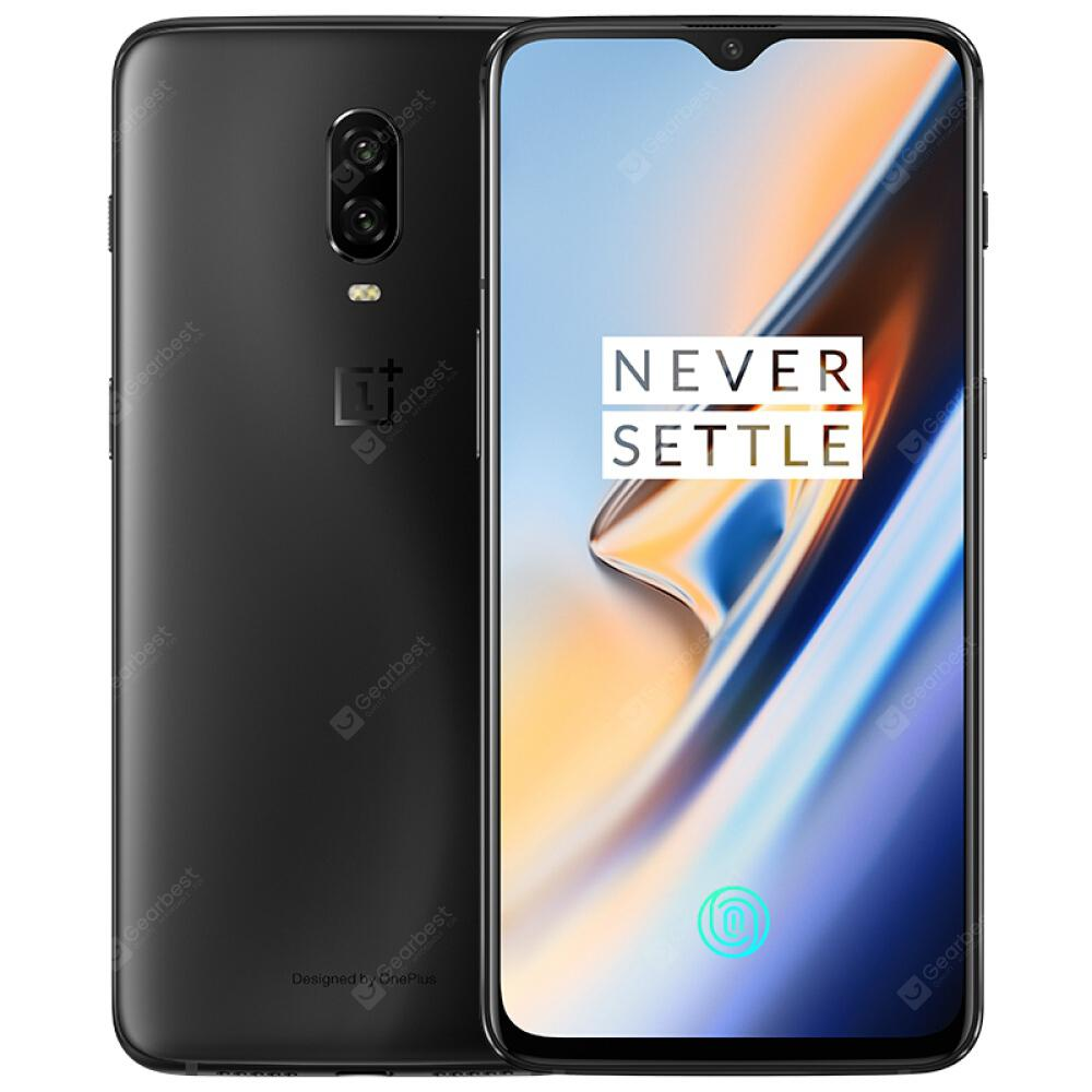 Gearbest OnePlus 6T 4G Phablet 6.41 inch International Version - Midnight Black