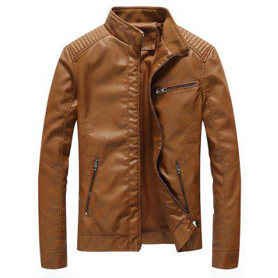 Men's Jacket Leather European American Style Large Size